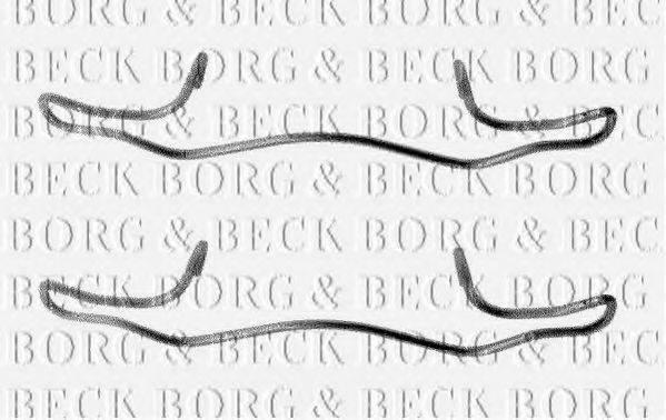 BORG & BECK BBK1180 Комплектующие, колодки дискового тормоза