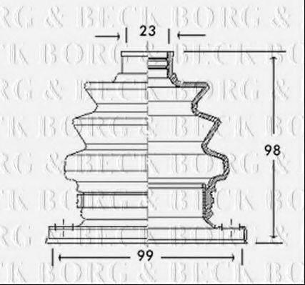 BORG & BECK BCB2766 Пыльник, приводной вал