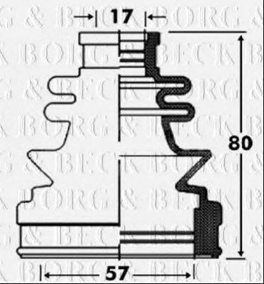 BORG & BECK BCB2855 Пыльник, приводной вал