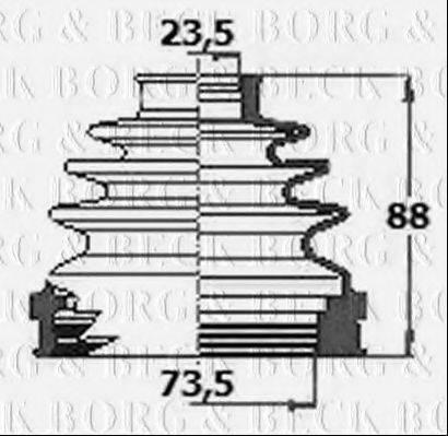 BORG & BECK BCB6133 Пыльник, приводной вал