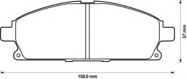 JURID 572466J Комплект тормозных колодок, дисковый тормоз