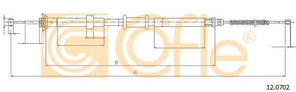 Трос, стояночная тормозная система COFLE 12.0702