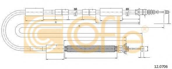 Трос, стояночная тормозная система COFLE 12.0706