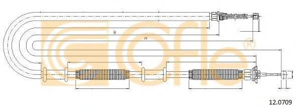 Трос, стояночная тормозная система COFLE 12.0709