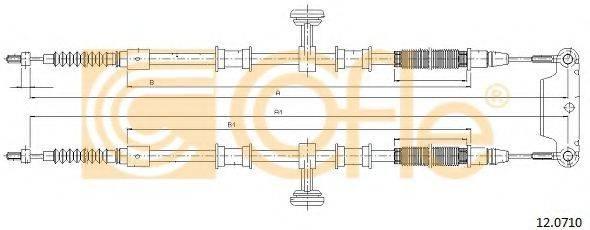 Трос, стояночная тормозная система COFLE 12.0710