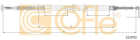 Трос, стояночная тормозная система COFLE 12.0712