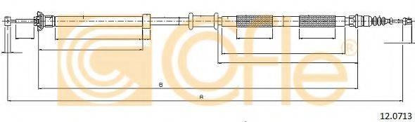 Трос, стояночная тормозная система COFLE 12.0713