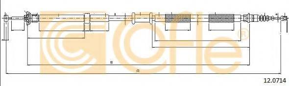 Трос, стояночная тормозная система COFLE 12.0714