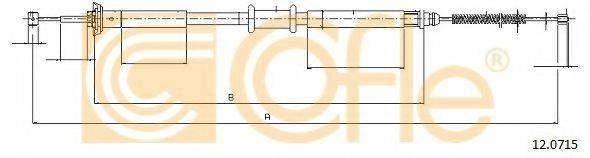 Трос, стояночная тормозная система COFLE 12.0715
