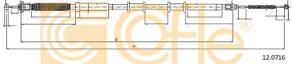 Трос, стояночная тормозная система COFLE 12.0716