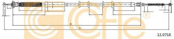 Трос, стояночная тормозная система COFLE 12.0718