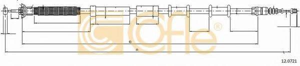 Трос, стояночная тормозная система COFLE 12.0721