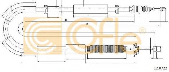 Трос, стояночная тормозная система COFLE 12.0722