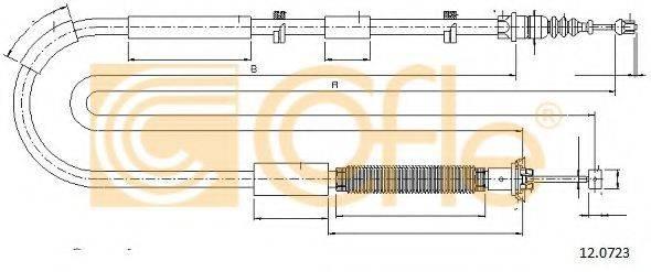 Трос, стояночная тормозная система COFLE 12.0723