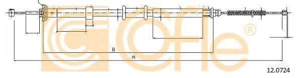 Трос, стояночная тормозная система COFLE 12.0724