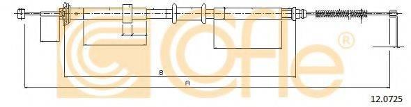 Трос, стояночная тормозная система COFLE 12.0725