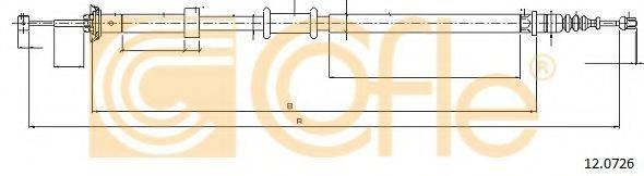 Трос, стояночная тормозная система COFLE 12.0726