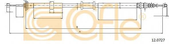 Трос, стояночная тормозная система COFLE 12.0727