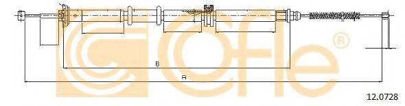 Трос, стояночная тормозная система COFLE 12.0728