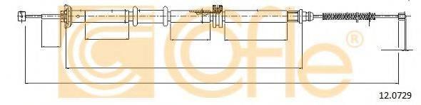 Трос, стояночная тормозная система COFLE 12.0729