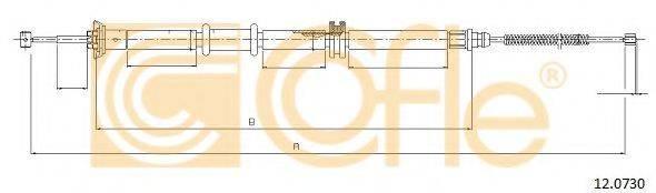 Трос, стояночная тормозная система COFLE 12.0730