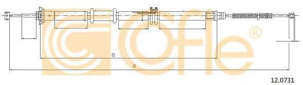 Трос, стояночная тормозная система COFLE 12.0731