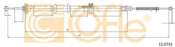 Трос, стояночная тормозная система COFLE 12.0733