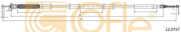 Трос, стояночная тормозная система COFLE 12.0737