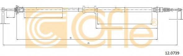 Трос, стояночная тормозная система COFLE 12.0739