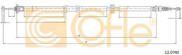Трос, стояночная тормозная система COFLE 12.0740