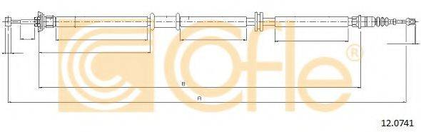 Трос, стояночная тормозная система COFLE 12.0741