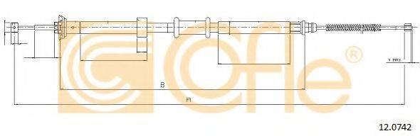 Трос, стояночная тормозная система COFLE 12.0742