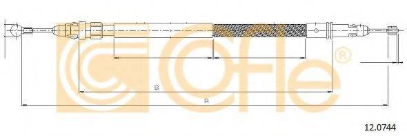 Трос, стояночная тормозная система COFLE 12.0744