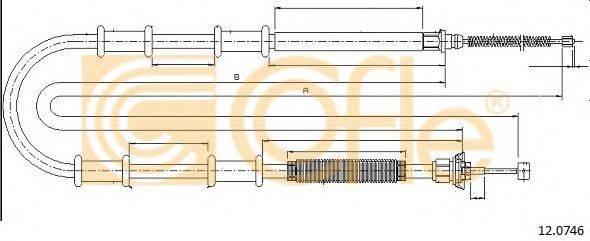 Трос, стояночная тормозная система COFLE 12.0746