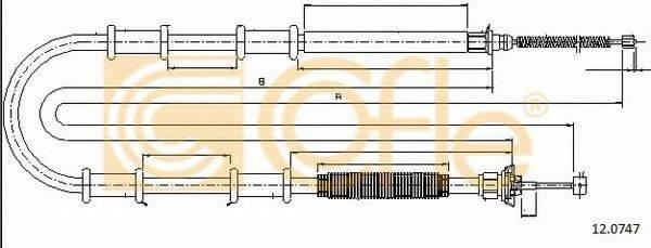 Трос, стояночная тормозная система COFLE 12.0747