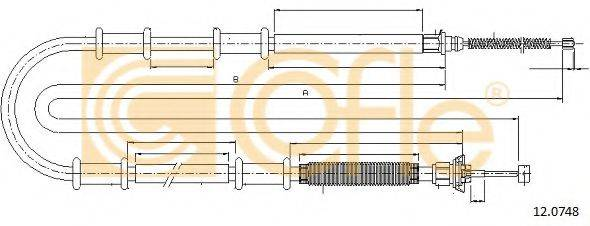 Трос, стояночная тормозная система COFLE 12.0748