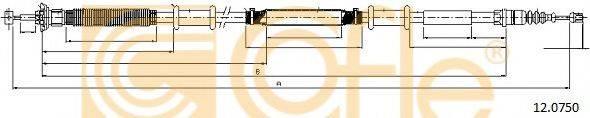 Трос, стояночная тормозная система COFLE 12.0750