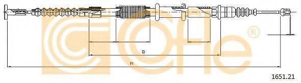 COFLE 165121 Трос, стояночная тормозная система