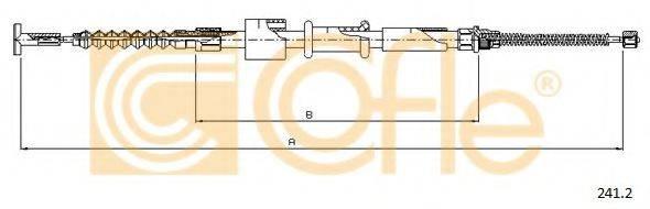 COFLE 2412 Трос, стояночная тормозная система