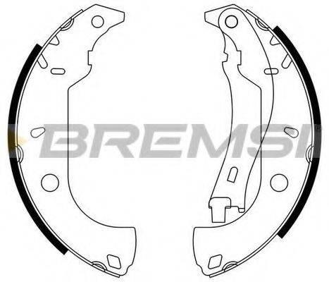 BREMSI GF0171 Комплект тормозных колодок