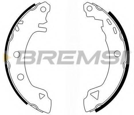 BREMSI GF0418 Комплект тормозных колодок