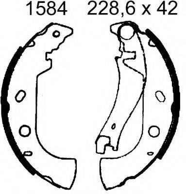 BSF 06384 Комплект тормозных колодок