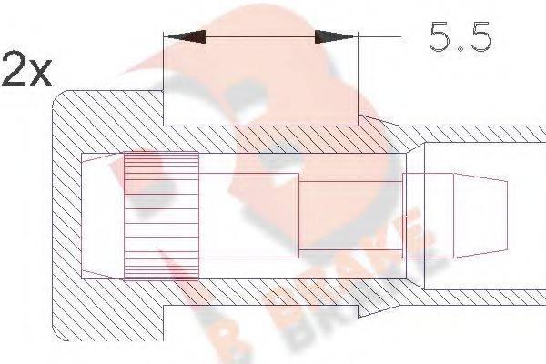 R BRAKE 610045RB Сигнализатор, износ тормозных колодок