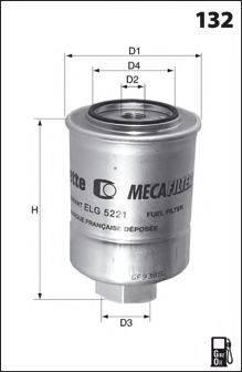 LUCAS FILTERS LFDS190 Топливный фильтр