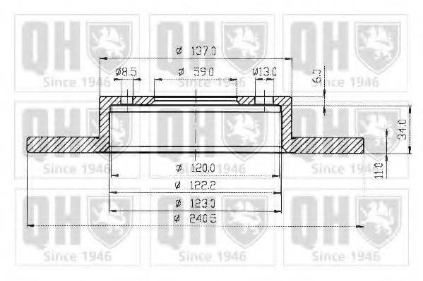 QUINTON HAZELL BDC3592 Тормозной диск