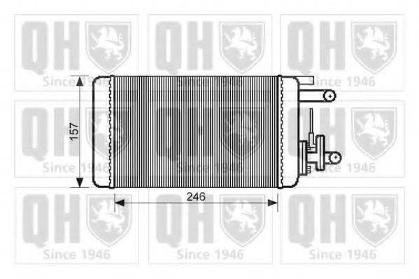 QUINTON HAZELL QHR2067 Теплообменник, отопление салона