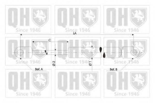 QUINTON HAZELL QTS128413 Газовая пружина, крышка багажник