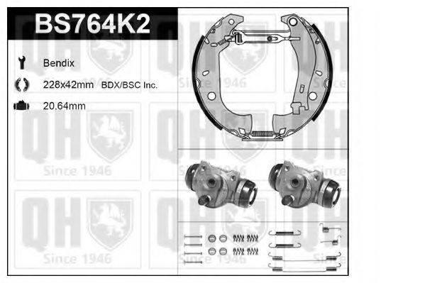 QUINTON HAZELL BS764K2 Комплект тормозов, барабанный тормозной механизм