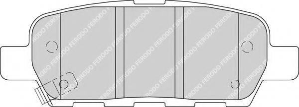 FERODO FDB1693 Комплект тормозных колодок, дисковый тормоз