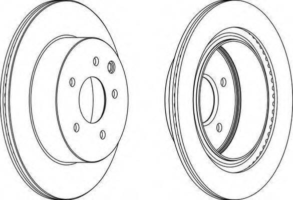 FERODO DDF1579 Тормозной диск